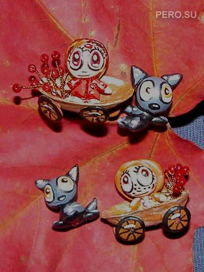колесницы, запряженые кошками