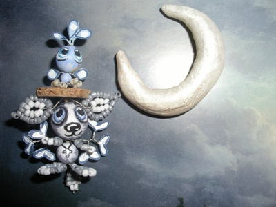 Луна и серый симуран